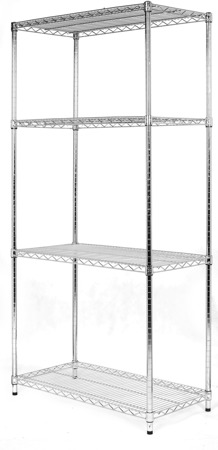 Regał Chrom 4-półki (36x92x182cm)